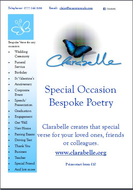Clarabelle Bespoke Poetry