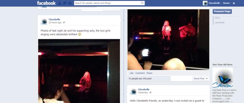 Clarabelle facebook page
