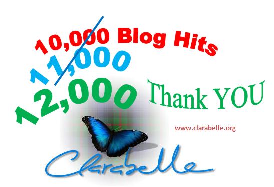 Clarabelle 12000 blog hits