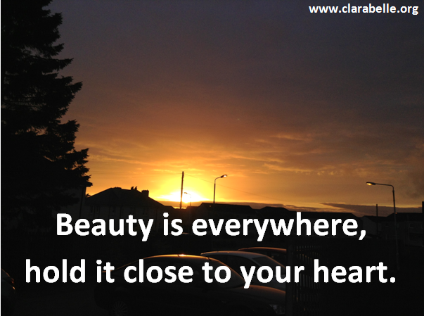 Clarabelle Quotes, Beauty is everywhere