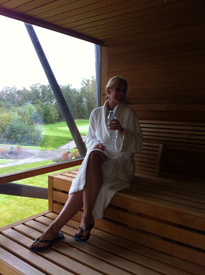Clarabelle, Sauna Time at Carrick Sap