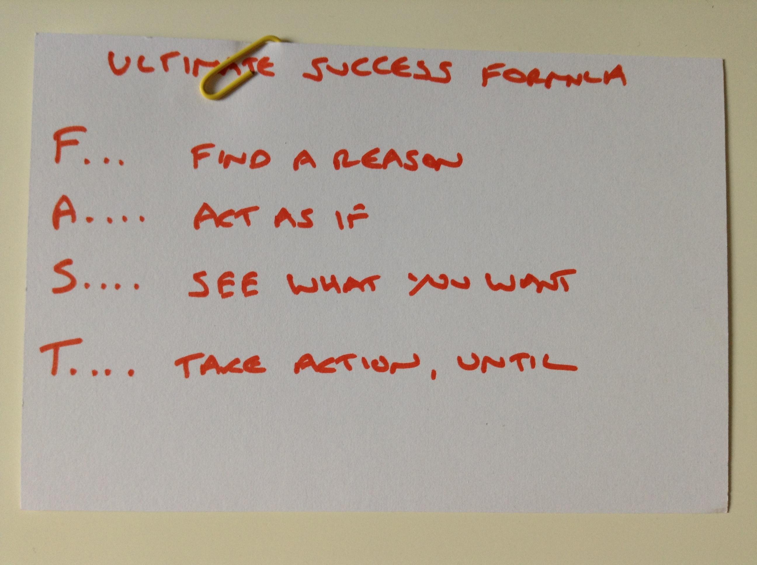 FAST Ultimate Success Formula