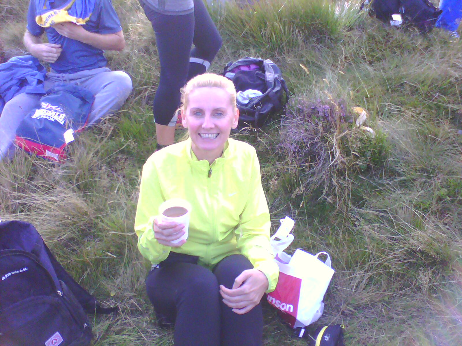Coffee for Clarabelle, before the marathon