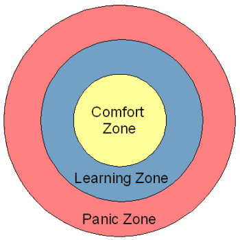 comfort learning zone diagram