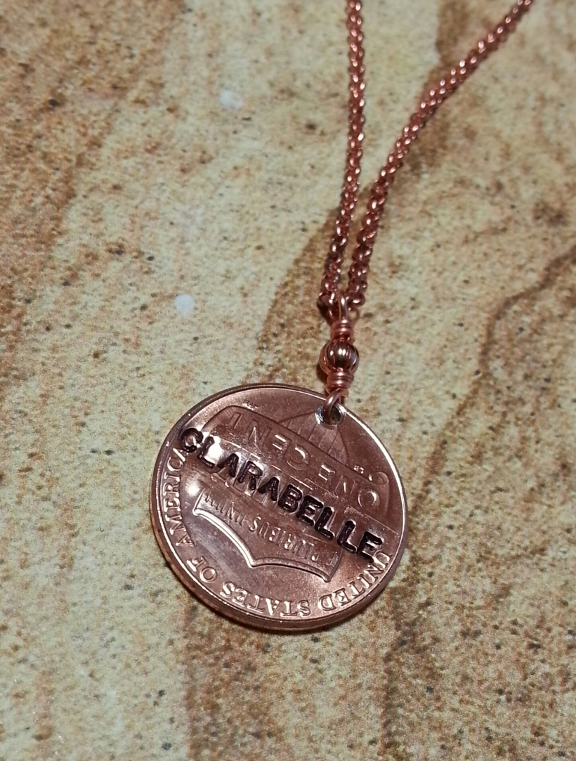 Clarabelle's Wish Upon A Penny necklace