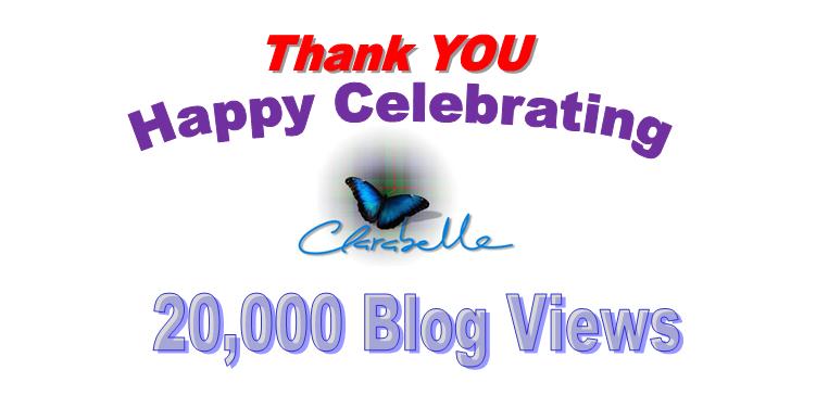 Clarabelle Blog Celebrating 20,000 Blog Hits