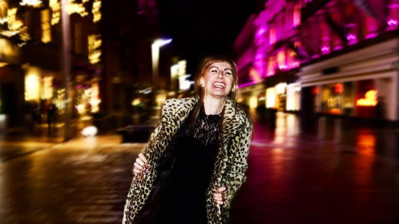 Clarabelle photo shoot Glasgow City Centre 22.01.14