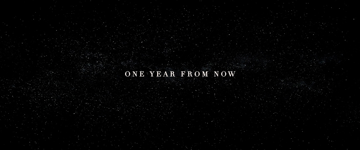 one year from now