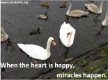 When the heart is happy