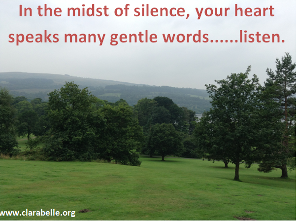 In the midst of silence