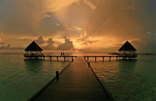 beach horizon sea water later