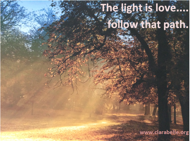Clarabelle Photography and Quotes, The light is love