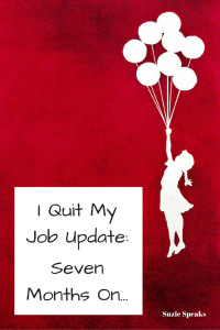 I Quit My Job Update: Seven Months On