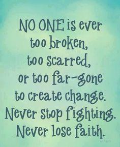 determined spirit - never lose faith