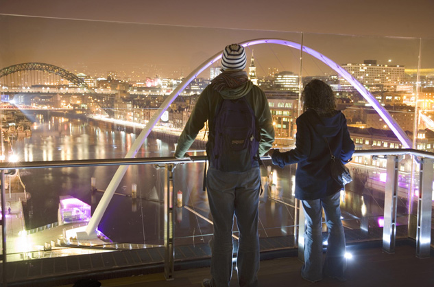 Newcastle City Centre at night