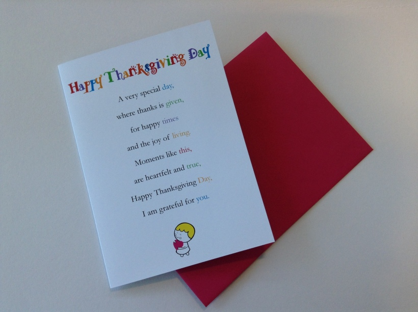 Happy Thanksgiving Day Greetings Card by Clarabelle Cards