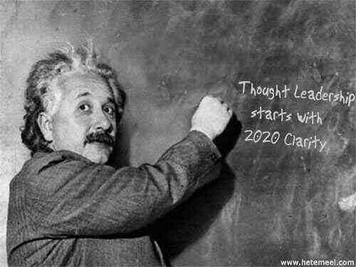 Albert Einstein Clarity of thought