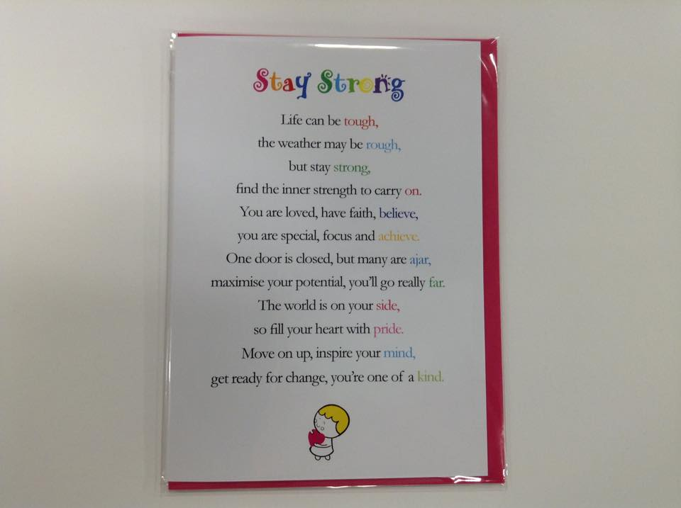 Stay Strong Greetings Card