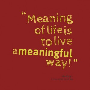meaningful way